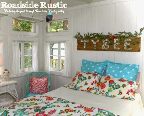 Christmas cottage bedroom