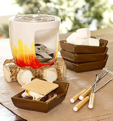 Ceramic Log S'mores Maker