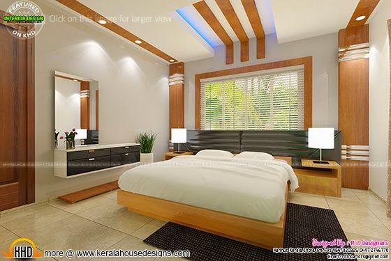 Bedroom interior design with cost kerala home design - Low cost bedroom decorating ideas ...