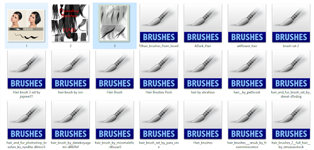50+ Collections Photoshop Hair Brush