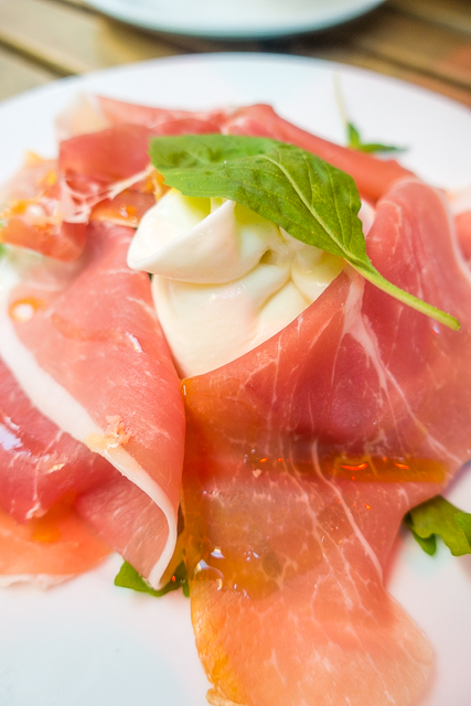 Prosciutto and Burrata at Prima Sapori Italia - London, England