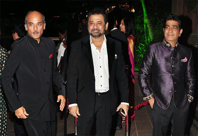 Sooraj Bharjtya, Anees Bazmee, Kishen Kumar, Pics from Arpita-Ayush's Wedding reception