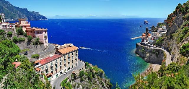 Cidades que fazem parte da Costa Amalfitana na Itália