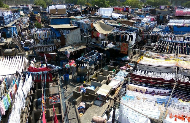 dhobi ghat, open air laundry, mahalaxmi, washing, drying, clothes, linen, mumbai, incredible india,
