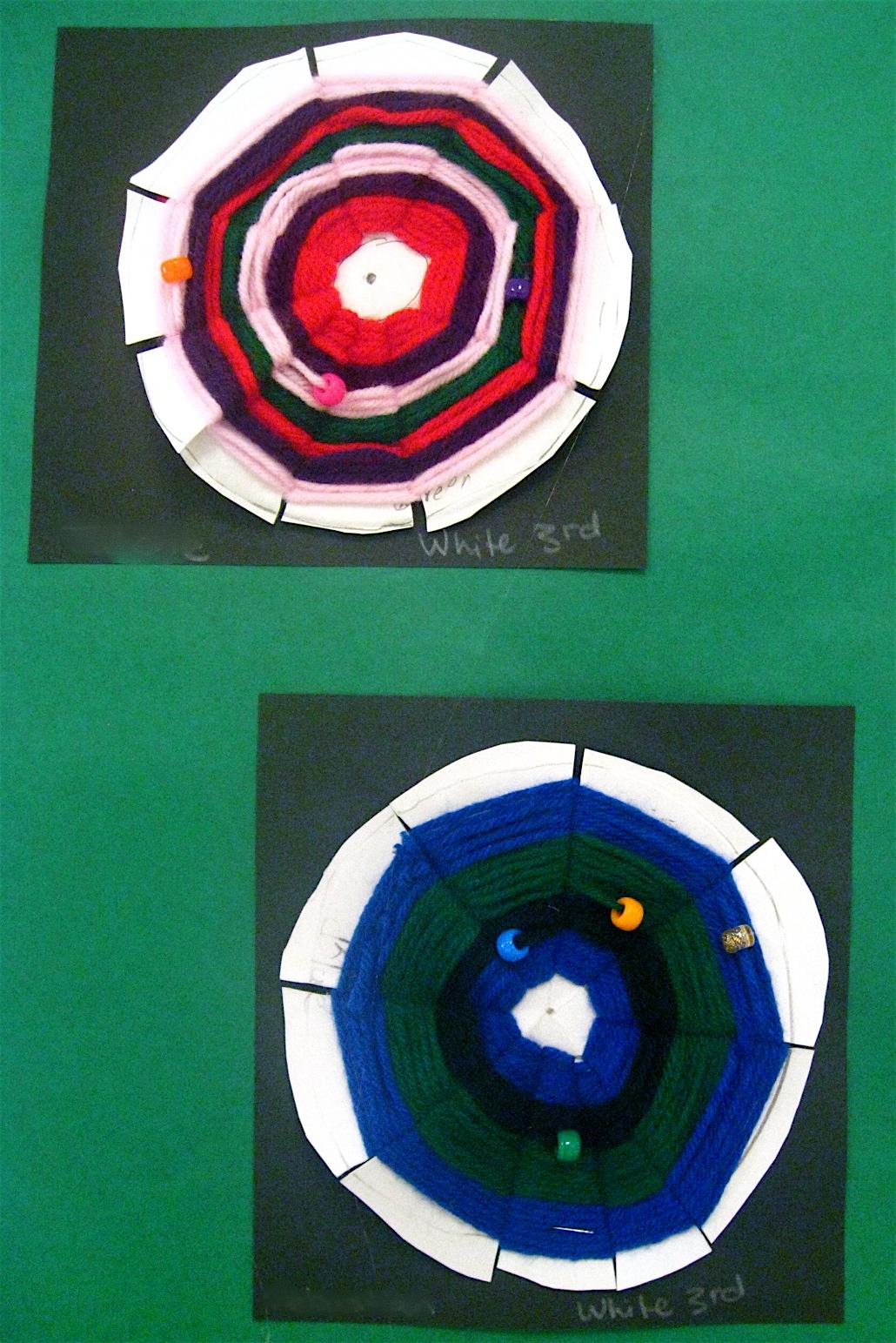 Let S Be Art Smart 3rd Grade Radial Symmetry Weavings