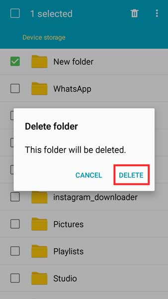 Membuat Folder Baru dan Menghapus Folder di Android