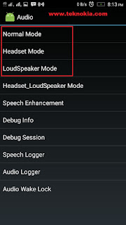 the Audio Menu