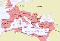 riassunto su Roma, cartina dell'impero Romano