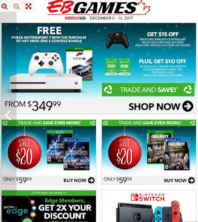 EB Games Flyer Forza motorsport 7 with the purchase of any xbox one s console bundle