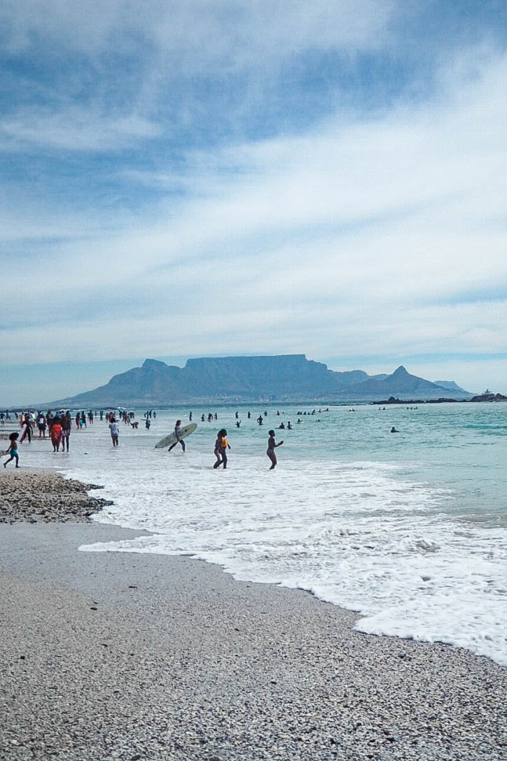 View of Table Mountain from Table View Beach