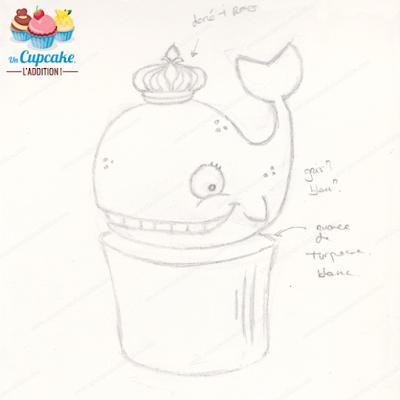 Cupcakes Hendayais : Maialen, la Baleine ou les Armoiries d'Hendaye