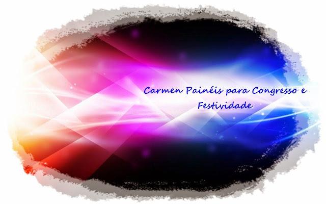 Carmen Painel para congresso e festividade para igreja evangélica