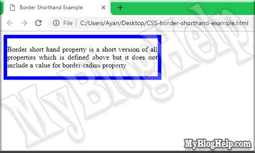 CSS-border-shorthand-property-example