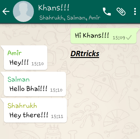 How To Generate Fake Group Conversation On Whatsapp Drtricks