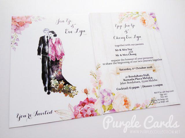Watercolour wedding card printing malaysia, peonies, peony, elegant, hand drawn, baba nyonya, melaka, rustic, you're invited, kuala lumpur, selangor, pulau pinang, penang, ipoh, perak, seremban, johor bahru, singapore, australia, sabah, sarawak, kuching, kota kinabalu, bespoke, personalised, personalized, online order, express, instant, service, planning, wooden, kebaya, tie the knot, save the date, floral, flower, envelope, kad kahwin, bentong, pahang, kuantan, invitation, stationery, invites, vibrant, colours, chart, background, pearl, linen, laid, courier, painting