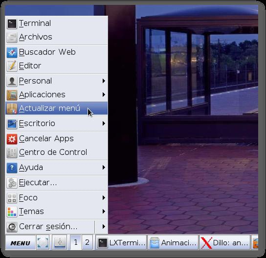 Menú de aplicaciones en antiX ya no recarga los iconos si yo instalo un programa nuevo