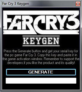 Key Generator Maker: Far Cry 3: [Updated 2013]Far Cry 3 Key