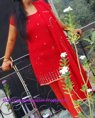 Karvachauth Red Suit