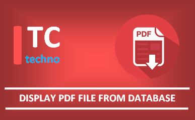 How to display a PDF document from database