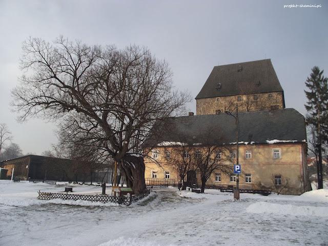 Główne wejście do wiezy w Siedlęcinie