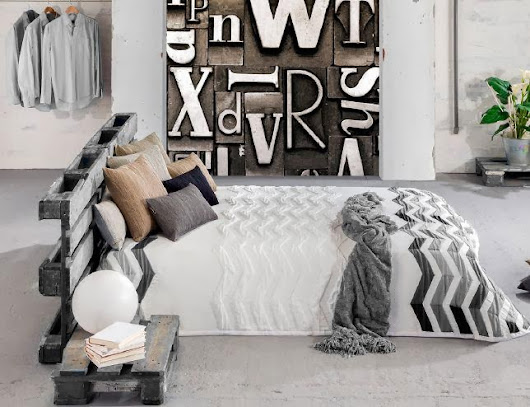 HABITACIONES DE DISEÑO EN BLANCO Y NEGRO O EN BLANCO Y GRIS  []  BLACK AND WHITE OR BLACK AND GREY BEDROOM