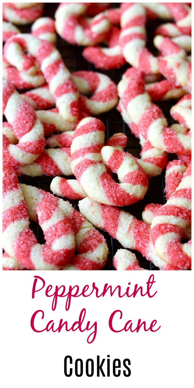 Peppermint Candy Cane Cookies #cookies #christmascookies #peppermint #candycanes