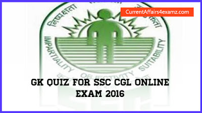 GK for SSC CGL 2016