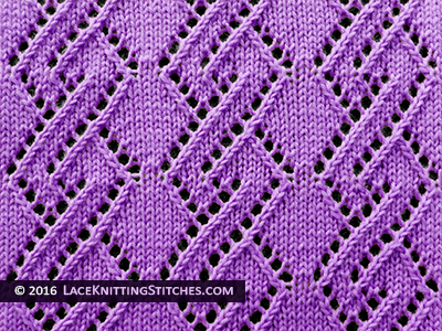 Lace Knitting. #30 Lace Diamond Chain