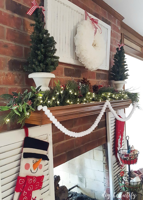 Christmas mantle with shutters