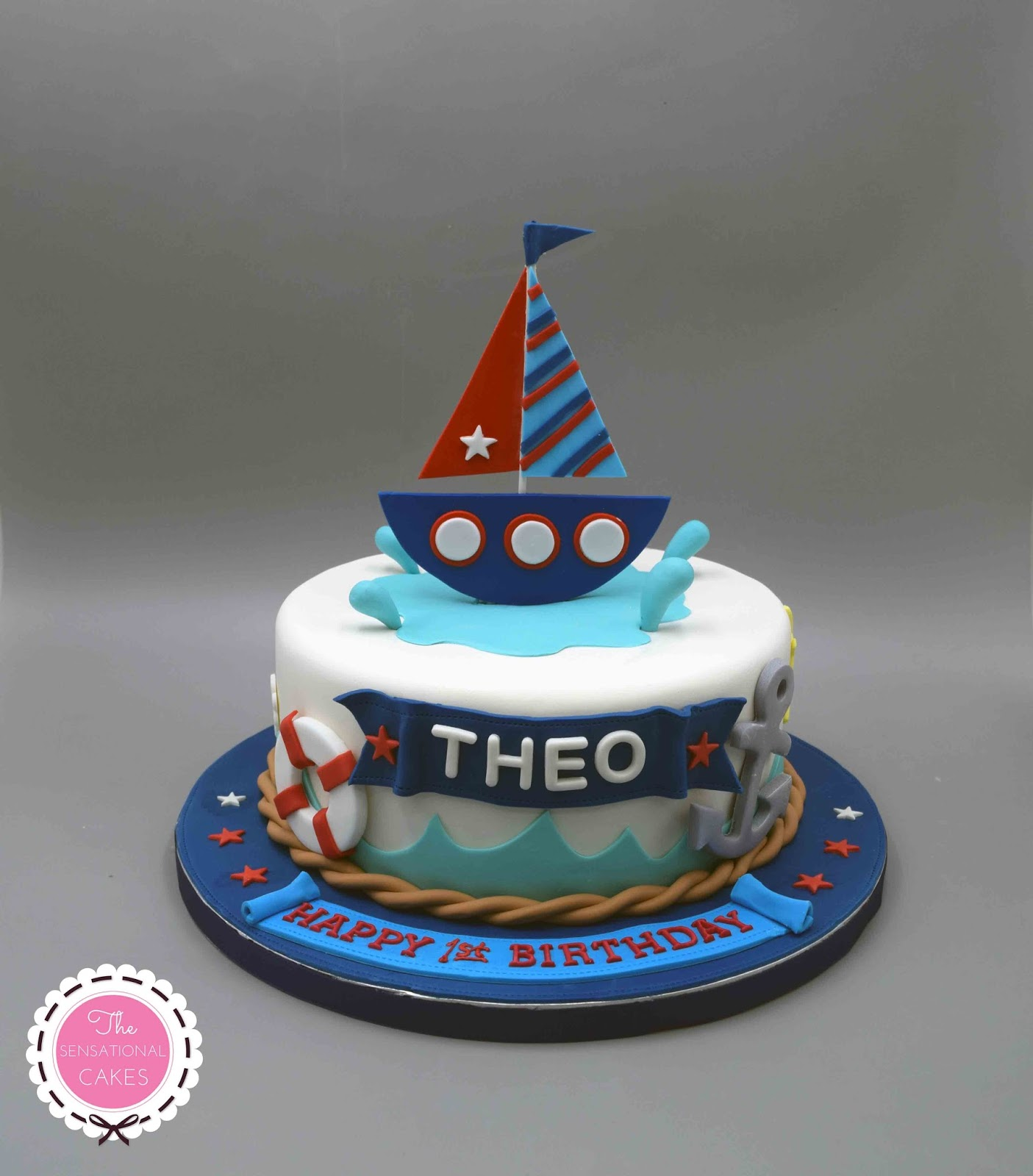 The Sensational Cakes Sailor Theme 3d Concept Birthday Cake Singapore