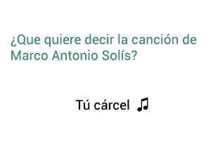 Significado de la canción Tú Cárcel Marco Antonio Solís Los Bukis.