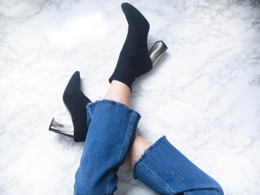 DIY Frayed Hem Jeans