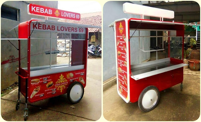 Gerobak kebab turki, Kebab Turkish cart
