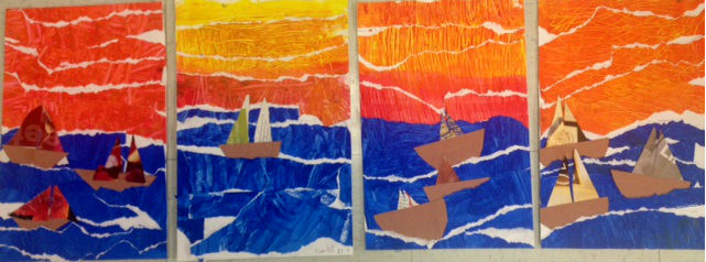 The Colorful Art Palette Textured Seascape