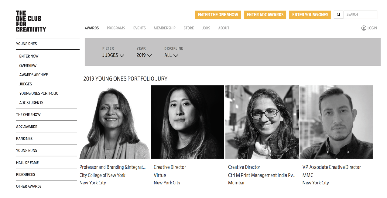 Young Ones Jury Unveiled!! Includes BIC Program Director | BIC