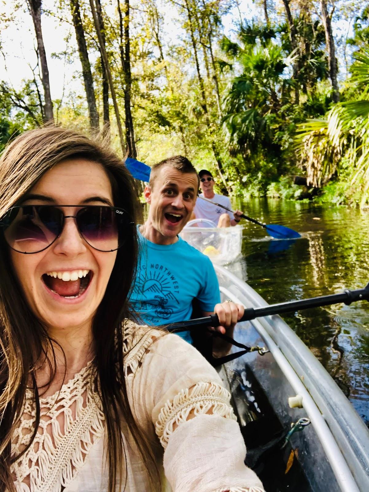 get up and go kayaking, kayaking, clear water, crystal clear water, clear kayak tours, tours in orlando, orlando adventures, orlando, florida, florida adventures, outdoors, clear water kayaking,