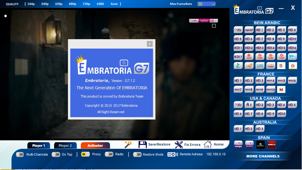 embratoria g10 pour windows 7