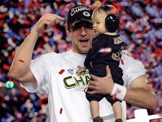 Aaron Rodgers And His Child