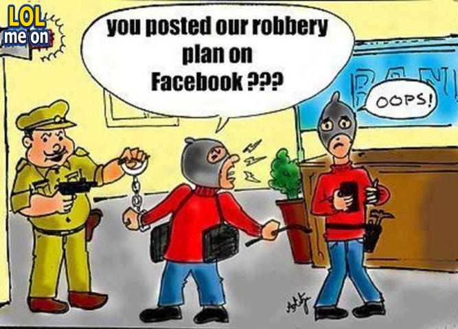 """funny cartoon picture shows a stupid robber from """"LOL me on"""""""