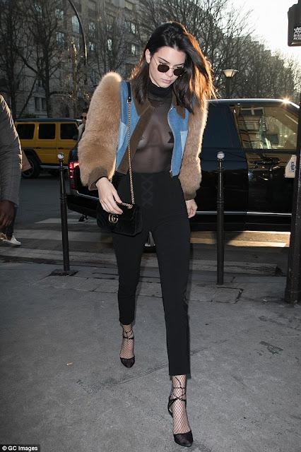 Kendall Jenner en la semana de la moda de París enero 2017