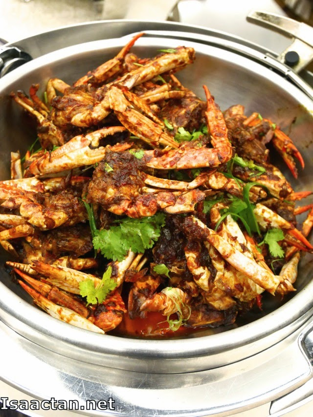 Fried Blue Flower Crab with Spices
