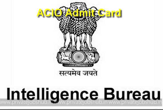 ACIO Admit Card