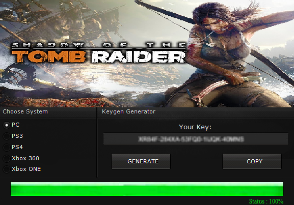 shadow of the tomb raider keygen free register