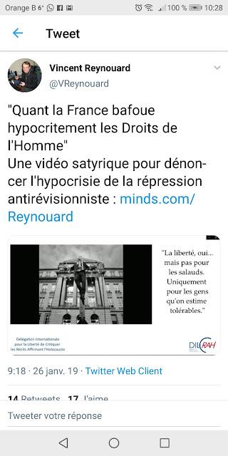 Vincent Reynouard,révisionnisme, nazisme, BTA, balance ton antisémite