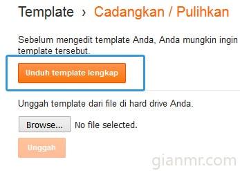 Cara mudah backup template blogger atau blogspot 3