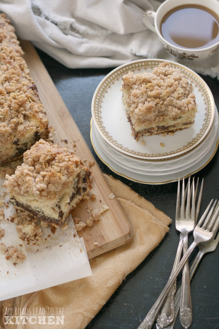 Chocolate Chip Walnut Streusel Coffee Cake