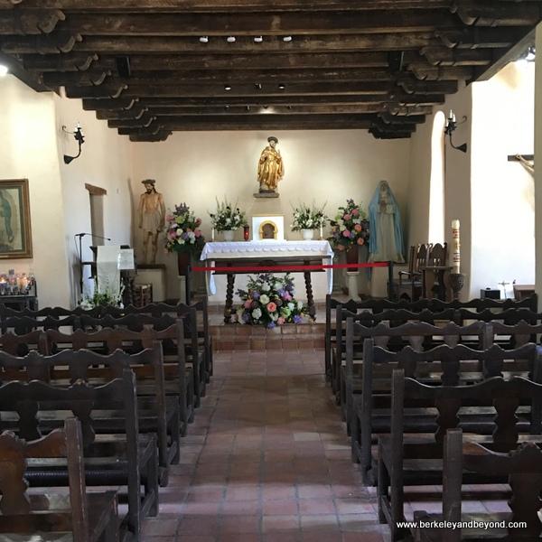 interior of church at Mission Espada in San Antonio Missions National Historical Park in San Antonio, Texas