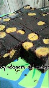 Resep Brownies Pisang Coklatnya Terasa Sekali