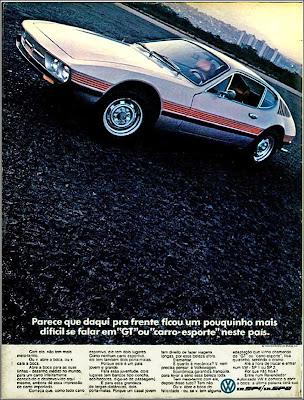 propaganda Volkswagen SP 1 e SP 2 - 1972, Volks anos 70, Oswaldo Hernandez, anos 70,