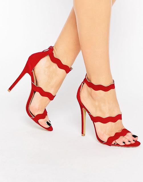 zapatos rojos con tacon